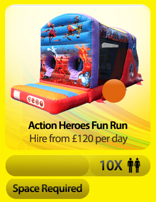 Action Heroes Fun Run Bouncy Castle