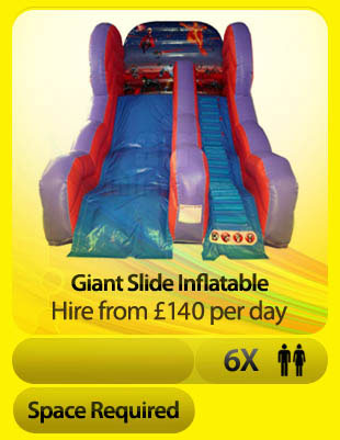 Superhero slide bouncy castle